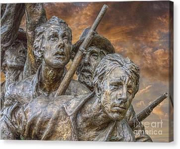 North Carolina Memorial At Gettysburg Canvas Print by Randy Steele