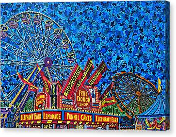 North Carolina State Fair 2 Canvas Print by Micah Mullen