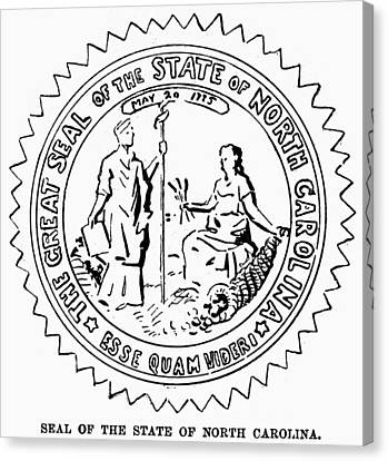 North Carolina State Seal Canvas Print by Granger