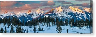 North Cascades Winter Panorama Canvas Print by Inge Johnsson