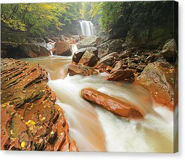 North Fork In Early Fall Canvas Print by Martin Radigan