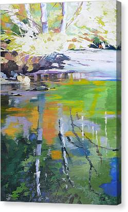 North Fork Silver Creek Canvas Print by Melody Cleary