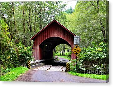 North Fork Yachats Covered Bridge Canvas Print