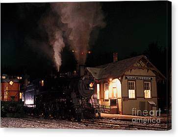 Canvas Print featuring the photograph North Freedom Wisconsin Steam Train by Clare VanderVeen