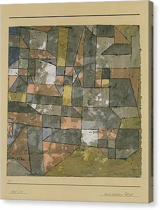 North German City Canvas Print by Paul Klee