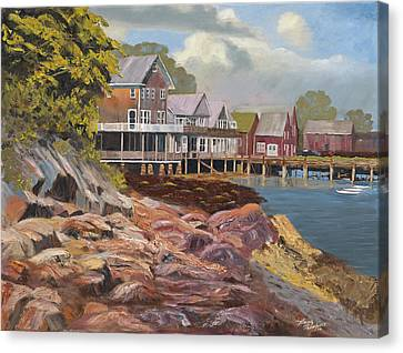 North Haven Harbor Maine Canvas Print by Tommy Thompson