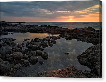 Big Island - North Kona Beach Canvas Print by Francesco Emanuele Carucci