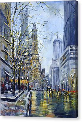 North Michigan Avenue Canvas Print