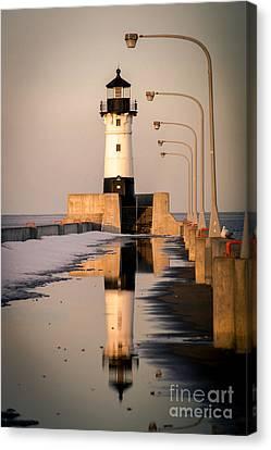 North Pier Sunset Melt Canvas Print