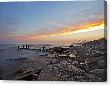 North Point Sunset Canvas Print by CJ Schmit