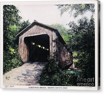 North Pole Covered Bridge Brown County Ohio Canvas Print by Rita Miller