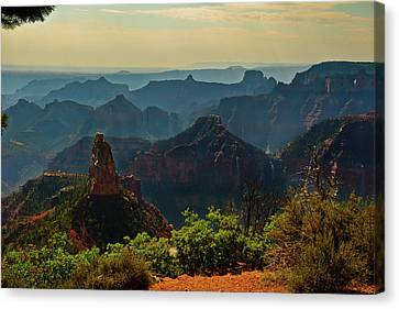 Canvas Print featuring the photograph North Rim Grand Canyon Imperial Point by Bob and Nadine Johnston