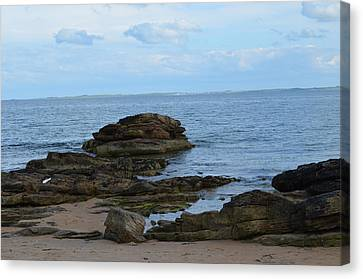 North Sea By The Rocks Canvas Print