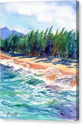 North Shore Beach 2 Canvas Print by Marionette Taboniar