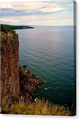 North Shore Cliff Canvas Print by Bridget Johnson