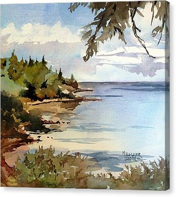 North Shore Lake Superior Canvas Print by Spencer Meagher