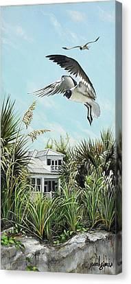 North Shore Landing Canvas Print by Joan Garcia