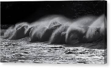 North Shore Spindrift Canvas Print by Mike Dawson