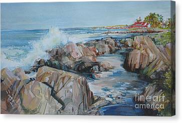 North Shore Surf Canvas Print by P Anthony Visco