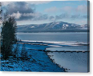 Canvas Print featuring the photograph North Shore Winter Blues by Jan Davies
