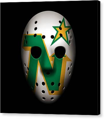 North Stars Goalie Mask Canvas Print by Joe Hamilton