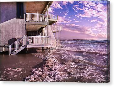 North Topsail Beach Tides That Tell Canvas Print by Betsy Knapp
