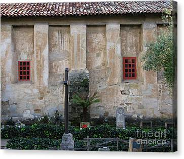North Wall Of The Carmel Mission Canvas Print by James B Toy