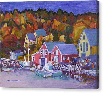 North-west Cove Canvas Print by Janet Ashworth
