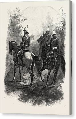 North-west Mounted Police, Canada Canvas Print by Canadian School