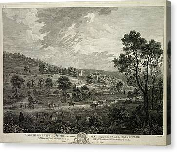 North-west View Of Haddon Canvas Print by British Library