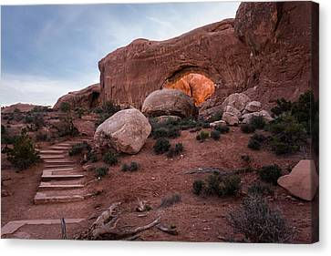 North Window Arch Canvas Print by Jay Stockhaus