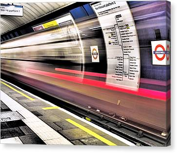 Canvas Print featuring the photograph Northbound Underground by Rona Black