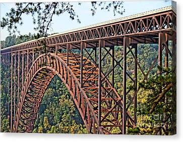 Northeast Close-up Of New River Gorge Bridge Canvas Print by Timothy Connard