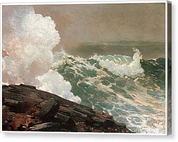 Northeaster Canvas Print by Winslow Homer
