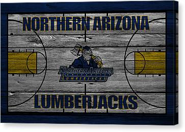 Benches Canvas Print - Northern Arizona Lumberjacks by Joe Hamilton