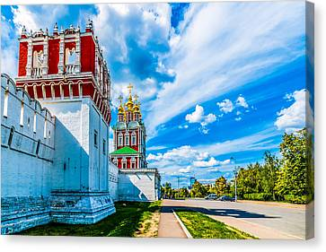 Northern Entrance To Novodevichy Convent Canvas Print by Alexander Senin