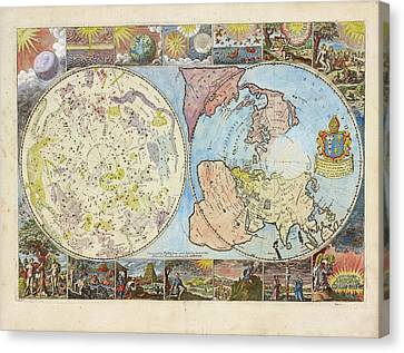 Northern Hemisphere Map Canvas Print by Lionel Pincus And Princess Firyal Map Division/new York Public Library