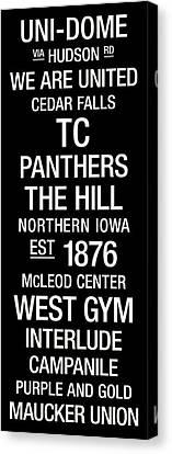Northern Iowa College Town Wall Art Canvas Print