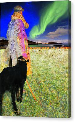 Northern Lights Canvas Print by Chuck Staley