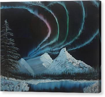 Canvas Print featuring the painting Northern Lights by Ian Donley
