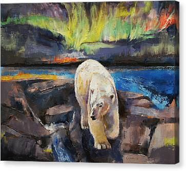 Northern Lights Canvas Print by Michael Creese