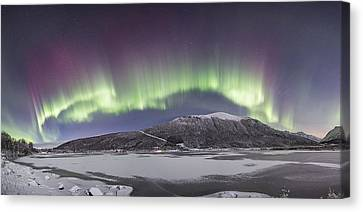 Northern Lights Panoramic Canvas Print