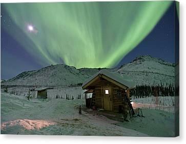 Northern Lights Shimmer Canvas Print by Hugh Rose