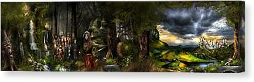 northern oz FULL PIC...43 Canvas Print by Vjkelly Artwork