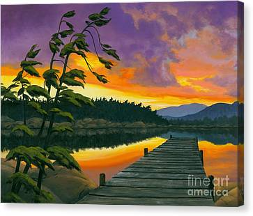 Canvas Print featuring the painting After Glow - Oil / Canvas by Michael Swanson