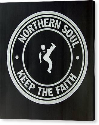 Northern Soul Dancer Inverted Canvas Print