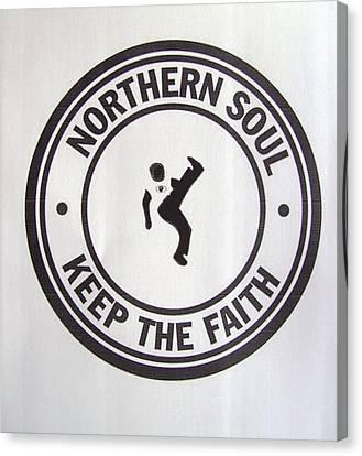 Northern Soul Dancer Canvas Print