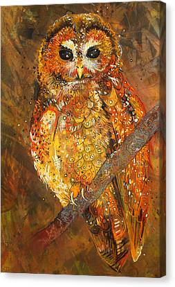 Northern Spotted Owl Canvas Print by Sharlena Wood