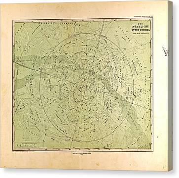 Northern Star Skygotha Justus Perthes 1872 Atlas Canvas Print