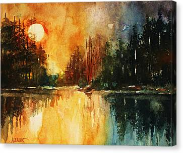 Northern Sunset Canvas Print by Al Brown